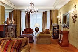 living room retro living room decor idea brown fabric sofa glass
