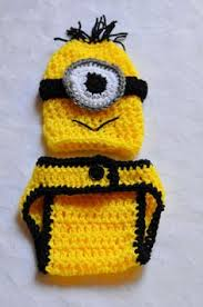 Baby Minion Costume Bad Purple Minion Crochet Hat Despicable Me 2 Movie Newborn 3 6