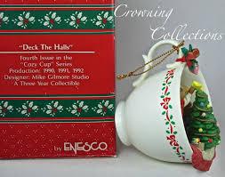 enesco cozy cup deck the halls mice treasury of ornament