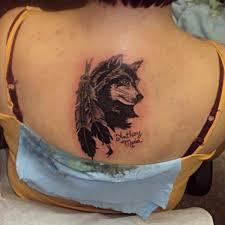 beautiful wolf 2 wolf back on tattoochief com