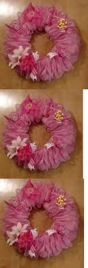 wreaths 16498 pink deco mesh wreath buy it now only 30