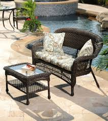 patio resin wicker patio furniture sets lowes allen and roth