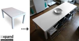 furniture kitchen tables the pillar dining table that extends to seat 12 expand furniture