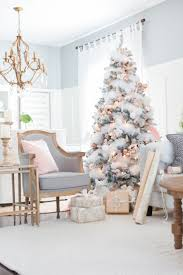 christmas christmas room decor blush and copper living gray pink