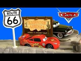 cars highway hideout route 66 speed trap launcher story sets new