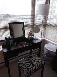 bathroom black makeup vanities with folding mirror vanity and