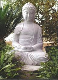 30 inch solid granite buddha sitting on 7 inch lotus