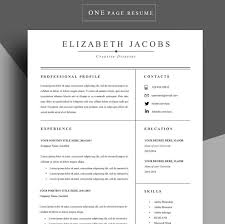 Resume Cover Page Template Word Resume Template Cv Template Professional Resume By Chedonresume