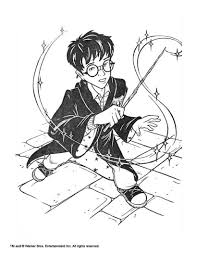 harry potter with monster coloring pages hellokids com