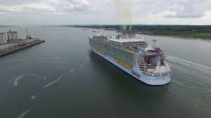 drone video captures royal caribbean u0027s harmony of the seas sailing