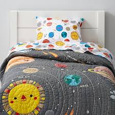 space toddler bedding the land of nod