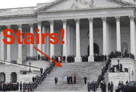 is donald trump is afraid of stairs the evidence says no