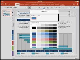 powerpoint for ipad pick up and apply custom colors