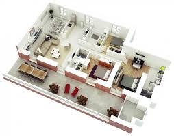 House Design Ideas Floor Plans 3d Inspiring 3 Bedroom House Plans 3d Design With 3 Bathroom House
