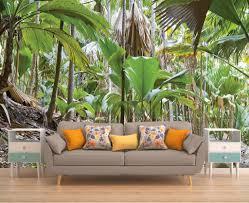 wall decor home decor home living trees wall art jungle wall mural jungle wallpaper wall mural palms reusable
