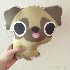 pug pillow stuffed toy plushie cute dog kawaii pug pillow