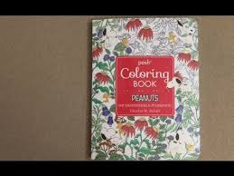 posh coloring book peanuts flip