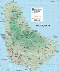 Longitude Map Map Of Barbados Travel