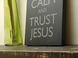 Religious Wall Decor Keep Calm And Trust Jesus Wooden Wall Sign Christian Wall Decor