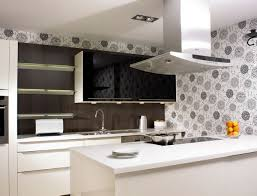 wallpaper for backsplash in kitchen wall kitchen modern design normabudden com