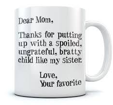 funny coffee mug mother u0027s day gift idea for mom funny coffee mug dear mom