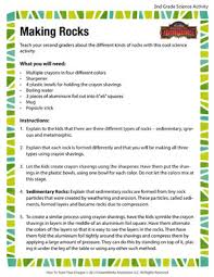 making rocks free and printable science activity for second grade