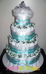 Tiffany Blue Baby Shower Cake - tiffany diaper cake www madampaloozaemporium com www facebook com