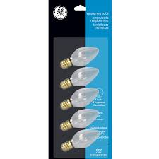 shop ge indoor outdoor white incandescent c7 string light bulbs at