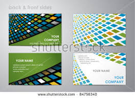 Business Cards Front And Back Two Sided Business Card Vector Design Download Free Vector Art