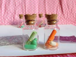 wishing paper creative gift letter pill mini wishing bottle with 3pcs