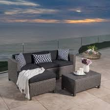 Outdoor Furniture Sectional Sofa Wicker Outdoor Sofas Chairs U0026 Sectionals Shop The Best Deals