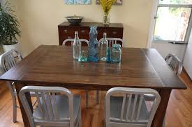 exciting small farmhouse dining room with metal dining chairs and