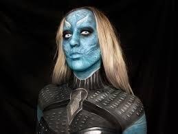 night queen game of thrones white walker makeup bodypaint