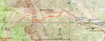 Arizona Topographic Map by Rock Creek Trail 42 Mazatzals U2022 Hiking U2022 Arizona U2022 Hikearizona Com