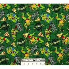 tmnt wrapping paper mutant turtles pizza toss green fabric