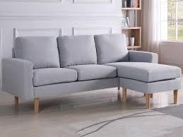 lolet canapé canape d angle reversible gino 3 places gris c 93928 93929