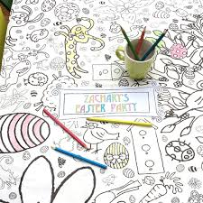 easter colour giant poster tablecloth eggnogg colouring
