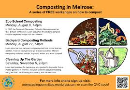 composting workshop series melrose recycles blog