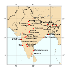 India On A Map World Heritage Sites In India