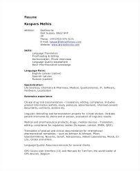 Medical Device Resume Sample Freelance Resume Freelance Translator Resume Resume