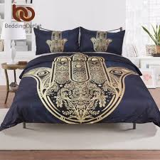 bedding outlet stores beddingoutlet hamsa hand duvet cover with pillowcase black dark
