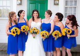 Royal Blue Wedding Royal Blue U0026 Sunflower Yellow Summer Wedding Kristin U0026 Jon