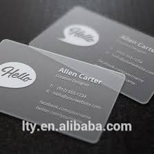 Translucent Plastic Business Cards Transparent Plastic Frosted Clear Plastic Business Cards Buy
