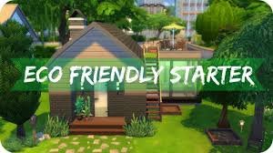 sims 4 speed build eco friendly starter home base game only