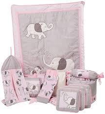 boutique pink gray elephant 13 pcs for baby crib bedding set ebay