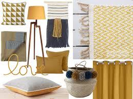 decor de chambre chambre jaune moutarde les coloris à associer clemaroundthecorner
