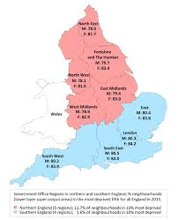 Map Of Southern England by North South Disparities In English Mortality1965 U20132015