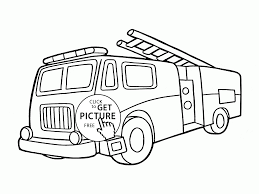 old fire engine coloring page for kids transportation coloring