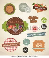 vector label set restaurant menu design stock vector 143762317