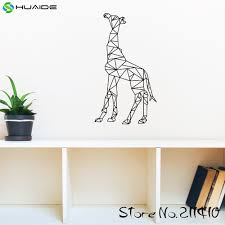 compare prices on giraffe bedroom online shopping buy low price large geometric giraffe wall decal sticker removable wall art stickers for kids room boys bedroom nursery